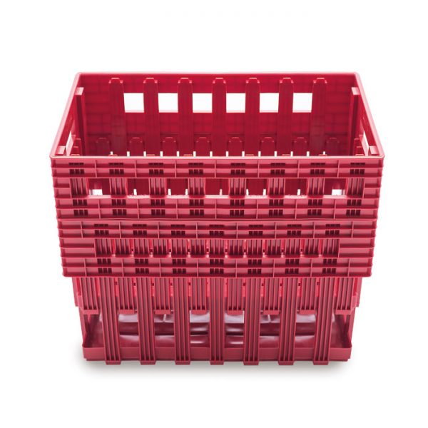 staking plastic egg crates Ovobox